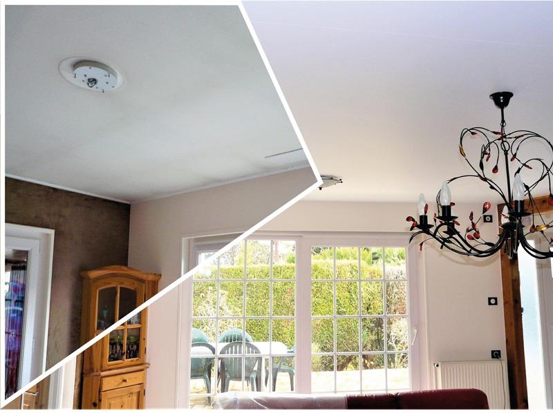 Plafond tendu traditionnel