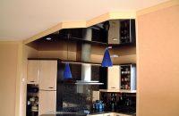 cuisine-plafond-tendu-laque-noir