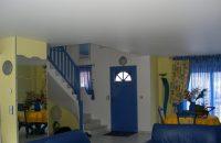 plafond-tendu-blanc laque-salon