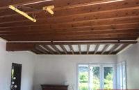 plafond tendu entre-poutres avant