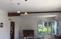 plafond tendu entre-poutres apres