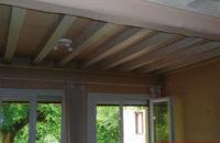 plafond tendu entre poutre avant salon