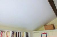 plafond tendu entre poutre apres chambre