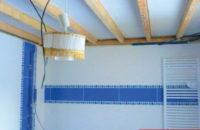 plafond tendu entre poutre avant salle de bain