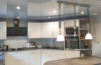Plafond tendu cuisine chantier client